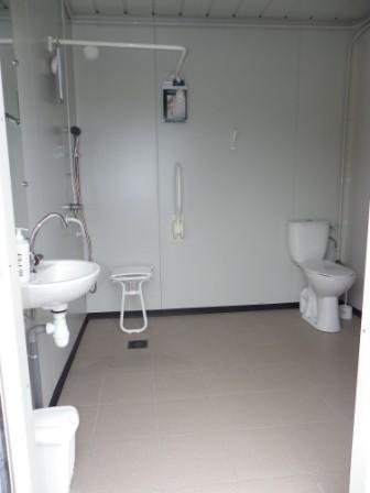 Sanitaires domaine de la bo re for Cabine de douche avec wc et lavabo